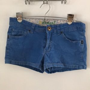 element blue corduroy shorts